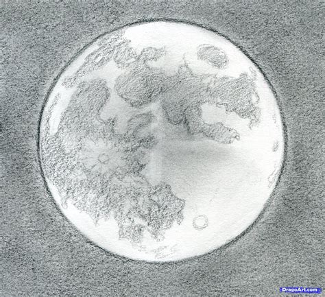 Sketches Moon by How To Draw The Moon Step 12