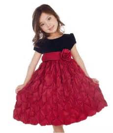 Mahroon and black party frocks for kids