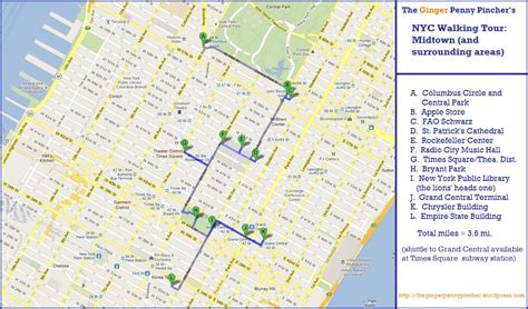 printable new york map dork for new york midtown walking tour the