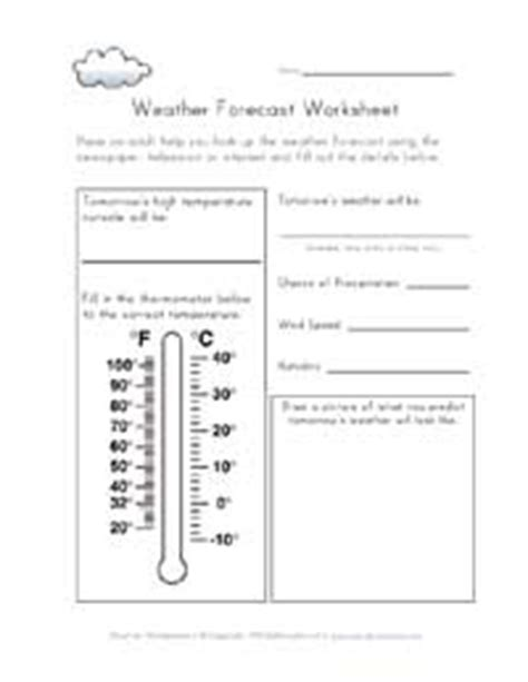 Weather Report Template Ks2 Weather Worksheets For All Network
