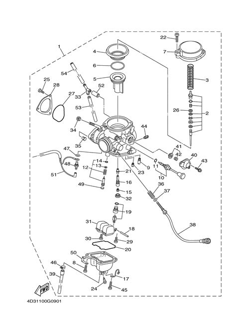 yamaha raptor 660 parts diagram wiring diagrams wiring