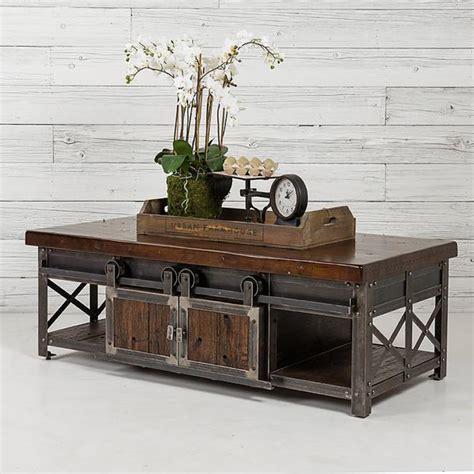 Signature Furniture Urban Farmhouse Designs Barn Door Coffee Table