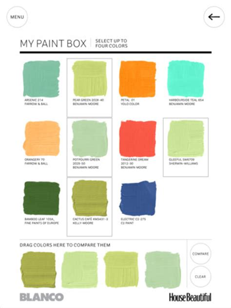 beautiful color schemes house beautiful s paint color app amy hirschamy hirsch