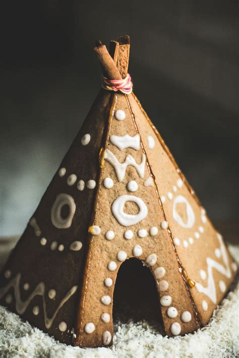 where can you buy gingerbread houses gingerbread tipi free pdf template baking magique