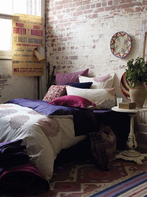 exposed brick bedroom courtney lane exposed brick