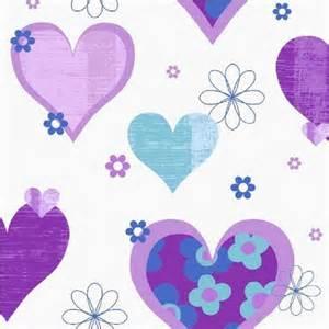 Rainbow Wall Murals arthouse happy hearts flowers childrens kids bedroom