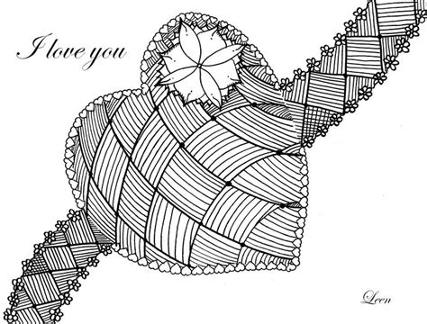 complex heart coloring page complex coloring page with a big heart to celebrate