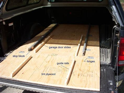 build your own truck bed slide out homemade truck bed slide