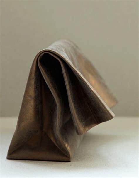 paper bag clutch pattern anve saco de papel leather clutch paper bag clutch annett