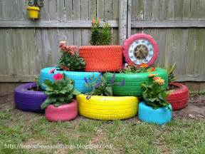 how to make recycled tires garden planter diy crafts