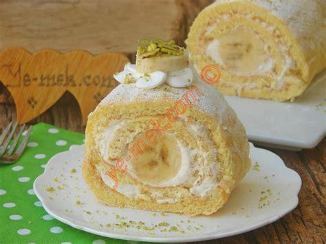 yemek krem santili tatlilar resimli 23 muzlu rulo pasta tarifi nasıl yapılır resimli yemek