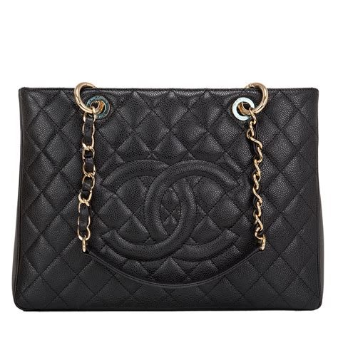Chanel Quilted Tote Bag Price by Chanel Grand Shopper Tote Gst Black Quilted Caviar Bag