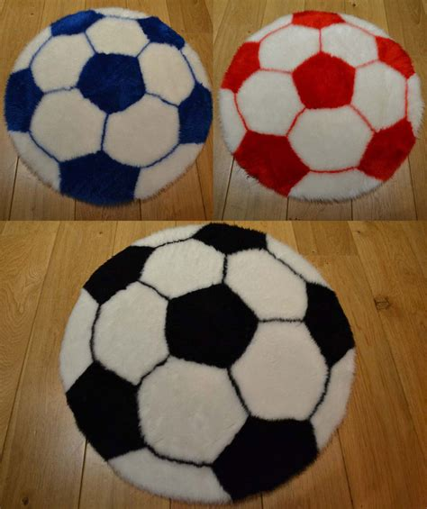 football rug machine washable childrens football rugs mats for bedroom bedside uk