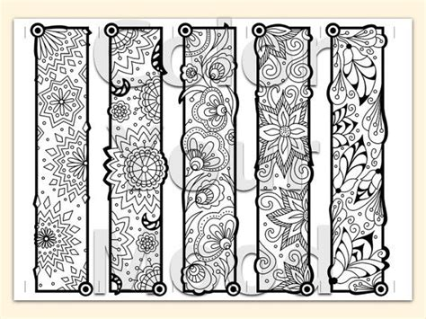 coloring book for markers printable coloring zendoodle bookmarks coloration