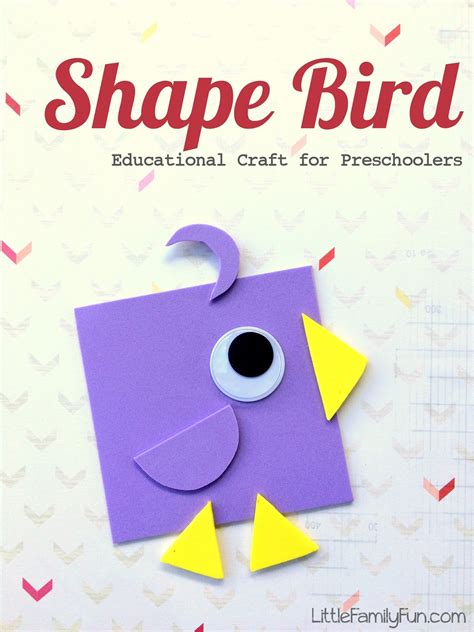 little family fun shape house educational craft little family fun shape bird educational craft