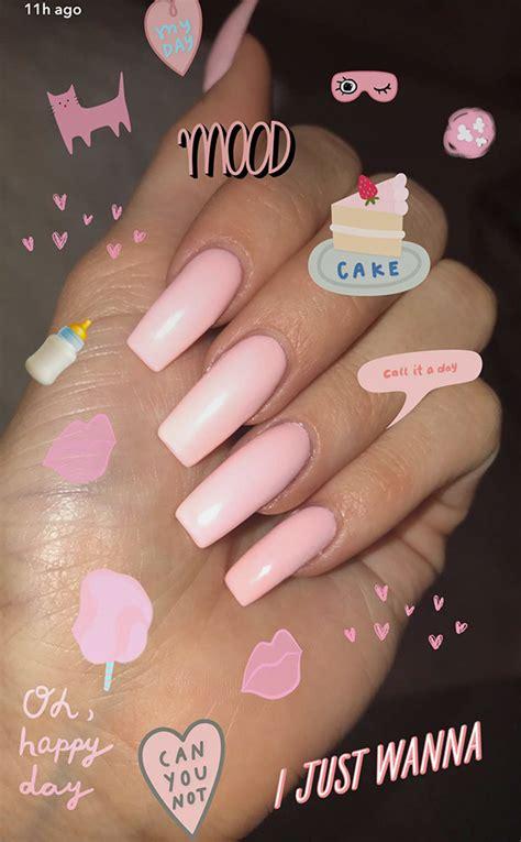 kim kardashian coffin nails kylie jenner s pink nails gorgeous coffin shaped