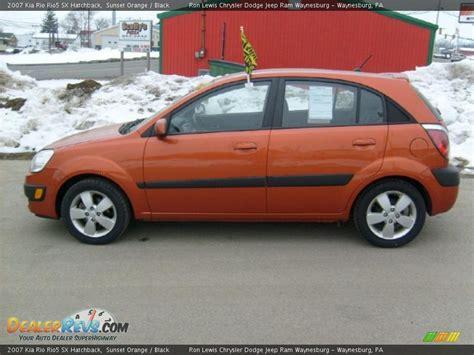 2007 Kia Rio5 2007 Kia Rio5 Sx Hatchback Sunset Orange Black Photo