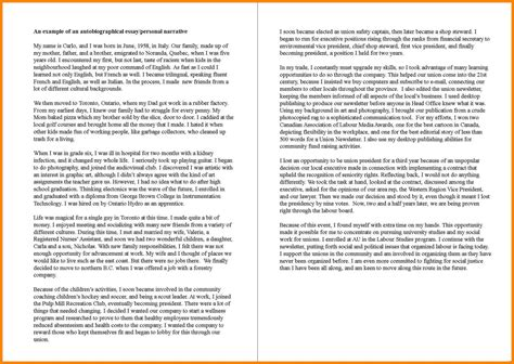 simple biography exles for students autobiography exle sufficient gallery exles
