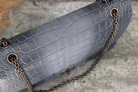 Chanel Crocodile 255 by Chanel 13p Blue Crocodile 255 Reissue Jumbo Flap Bag