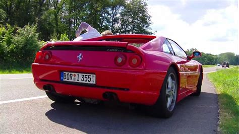 f355 acceleration f355 gts w pipes loud sound revv s