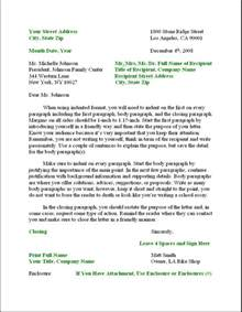 business letter format formal writing sle template