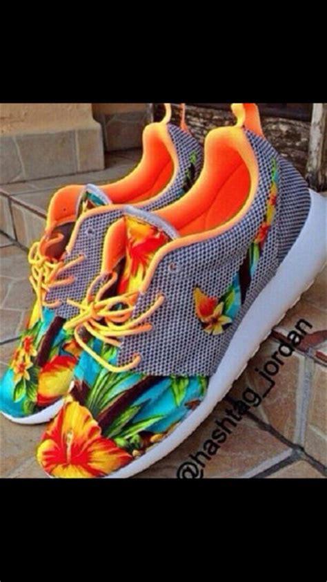 nike hawaiian print shoes shoes nike running shoes sneakers nike air max neon pink
