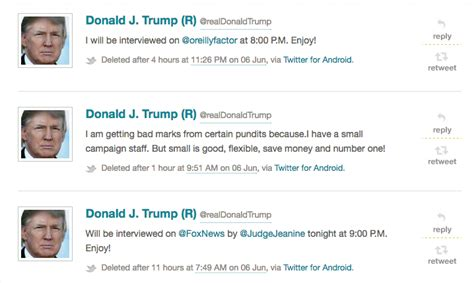 donald trump twitter deleted trumping twitter examining the deleted tweets of donald