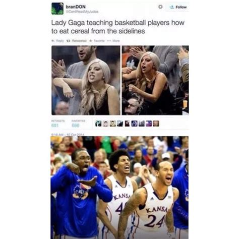 Invisible Cereal Meme - lady lady gaga and basketball players on pinterest