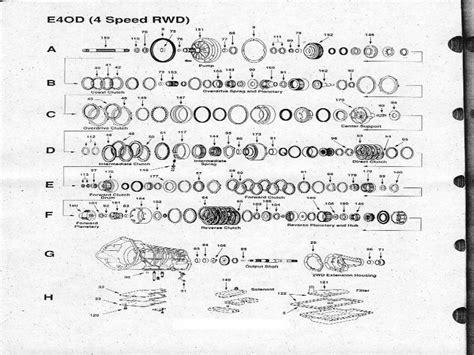 e40d transmission diagram pin e4od parts 4r100 transmission on