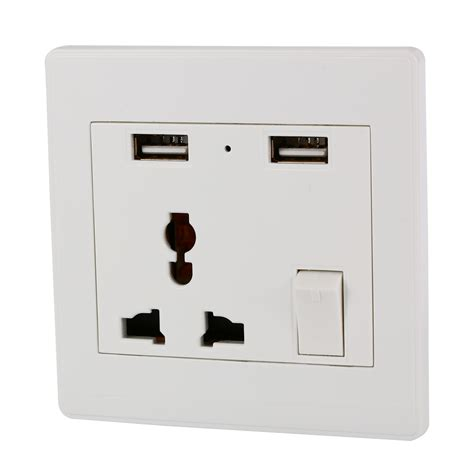 dual outlet light socket adapter universal dual 2 usb electric wall power socket outlet