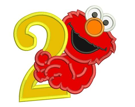 elmo applique elmo 2nd birthday applique design