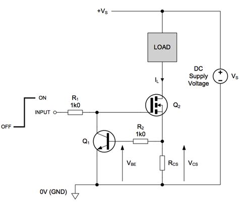 transistor load or switch load circuit auto reset