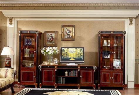 0010 european classic furniture wooden cabinet design for