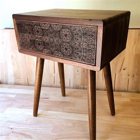 Wood Burned Table by Wood Burned Tables By Port Rhombus Combine Classic And