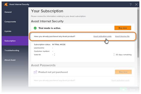 avast security 8 activation code serial