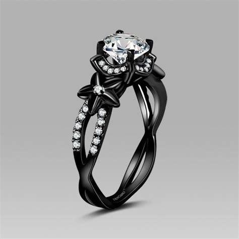 30170 Black White O Ring 30 incre 237 bles dise 241 os de anillos de compromiso negros