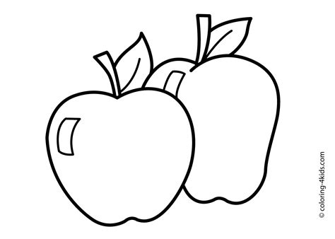 free printable coloring page of an apple apple coloring pages to download and print for free