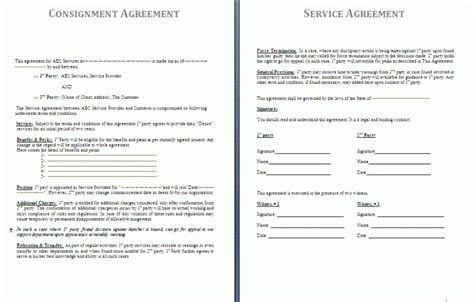 Consignor Agreement Template consignment agreement template free agreement templates