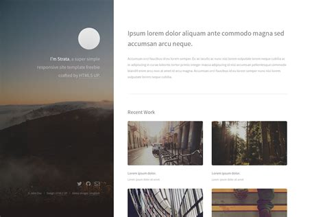 themes of hugo digitalcraftsman hugo strata theme port of html5up s