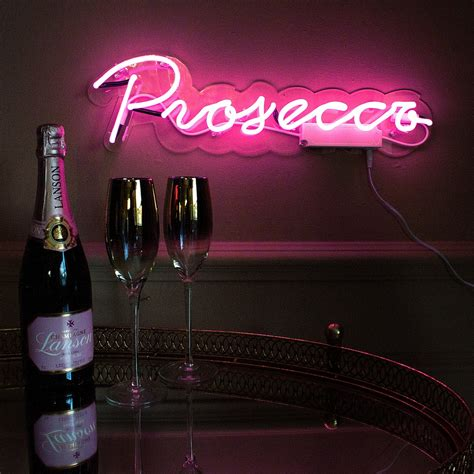 prosecco neon pink wall light audenza