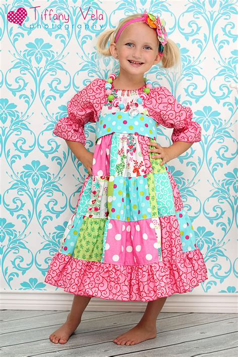 Patchwork Dress Pattern - noel s patchwork peasant dress pdf pattern by