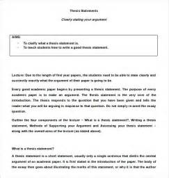 Argument Essay Thesis Statement by 7 Thesis Statement Exles In Word Pdf Free Premium Templates