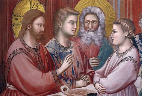 Wedding At Cana Giotto by From The Of