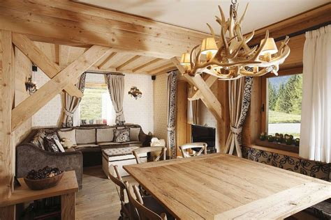 rustic home interior designs rustic alpine apartment with wood elements