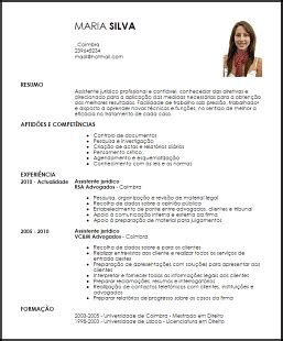 Modelo De Curriculum Vitae Persona Juridica Modelo Curriculum Vitae Assistente Jur 237 Dico Livecareer