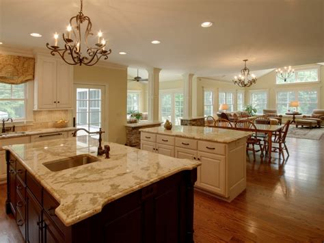 open concept kitchen idea in open concept kitchen and living room open kitchen into