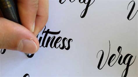 tutorial brush pen lettering brush pen lettering no 2 youtube