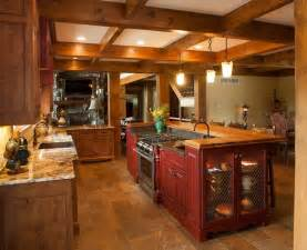 Log Kitchen Cabinets Rustic Log Home Rustic Kitchen Other By Mullet Cabinet