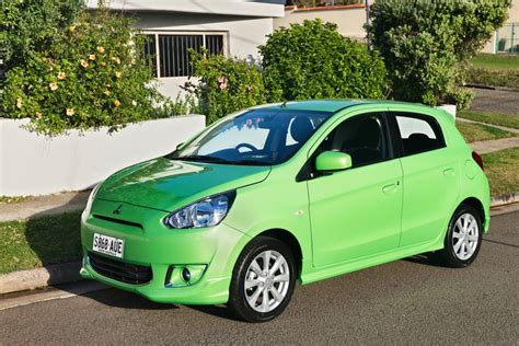 Mitsubishi Mirage Pop Green Mitsubishi Pops Out A Green