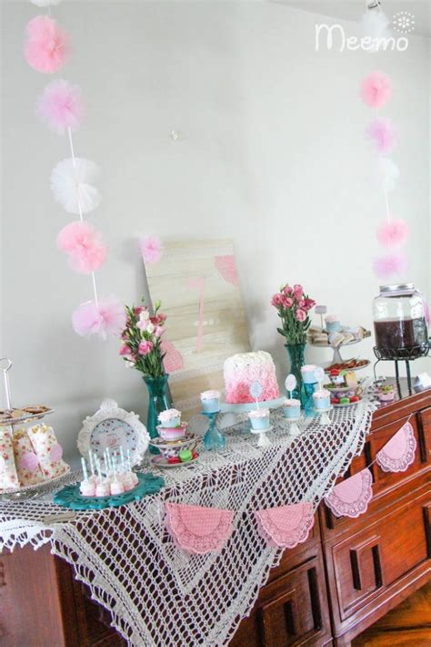 Shabby Chic Birthday Decorations by Shabby Chic Birthday Via Kara S Ideas